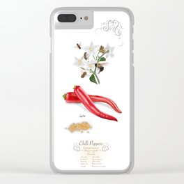 Chilli Peppers and Pollinators Clear iPhone Case
