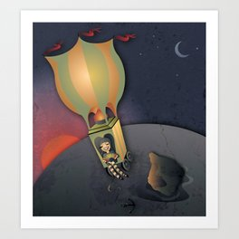 Flying away with the Circus Art Print