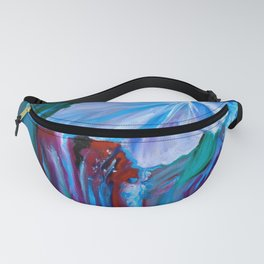 Abstract Orchid Fanny Pack