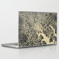 baltimore Laptop & iPad Skins featuring Baltimore map by Map Map Maps