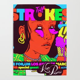 the strokes los angeles tour 2020 baukentut Poster
