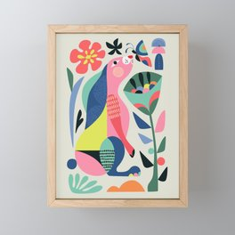 Wild rabbit Framed Mini Art Print