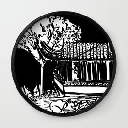 Chinese Garden Wall Clock