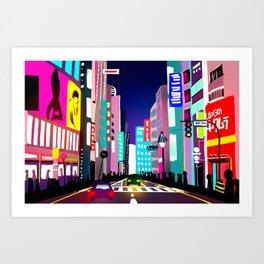 渋谷 Art Print