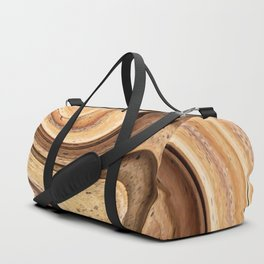 Palm Tree Wood Abstract Duffle Bag