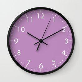 Violet Solid Color Block Spring Summer Wall Clock