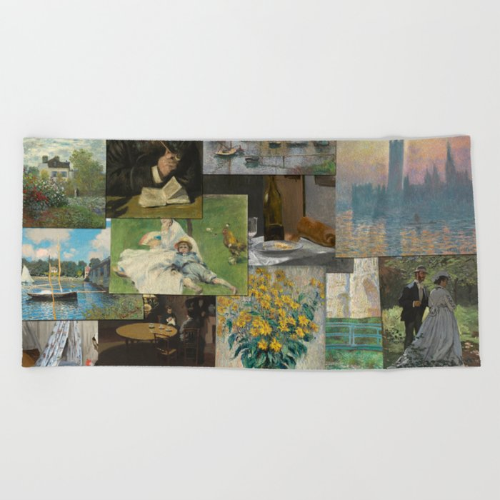 Dollar Tree Beach Towels.Artist Claude Monet Million Dollar Painting Collage Quilt Beach Towel By Podartist