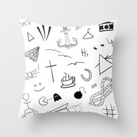 tattoos Throw Pillows featuring HL Tattoos by Stag Nacht