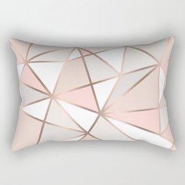 Rose Gold Perseverance Rectangular Pillow