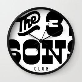 Three Sons Club Wall Clock