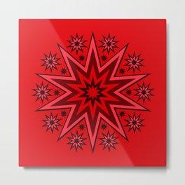 Flash Fireworks Mandala Stars Metal Print
