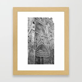 French Architecture - Strasbourg Cathedral  Framed Art Print