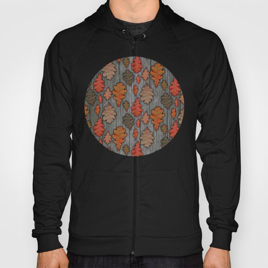 Patterns of Nature - Autumn Oak Leaves Hoody