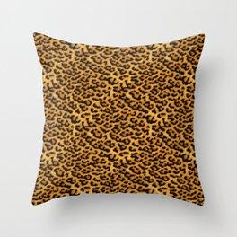 Chic Leopard Fur Fabric Throw Pillow