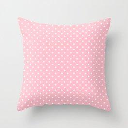 Dots (White/Pink) Throw Pillow