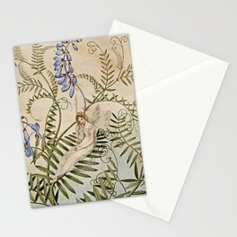 """""""Fairy Resting Among Flowers"""" by Amelia Jane Murray Stationery Cards"""