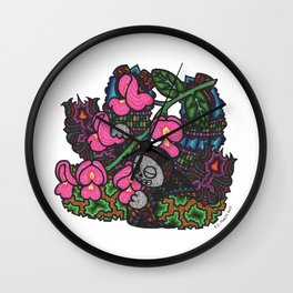 Elegance (Botanical Bliss) Wall Clock