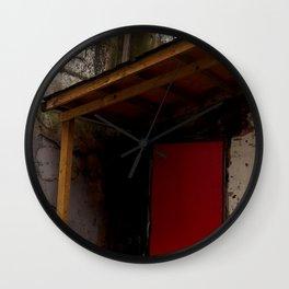 Red Door District Wall Clock