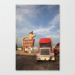 Route 66 - Rest Haven Motel 2010 Canvas Print