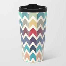 Watercolor Chevron Pattern Travel Mug