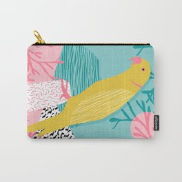 Bird Brain - wacka designs abstract minimal memphis design retro throwback 1980s 80s illustration Carry-All Pouch