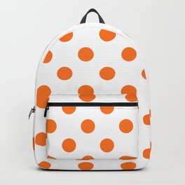 Polka Dot Texture (Orange & White) Backpack
