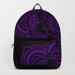 Deep Purple Mandala Backpack
