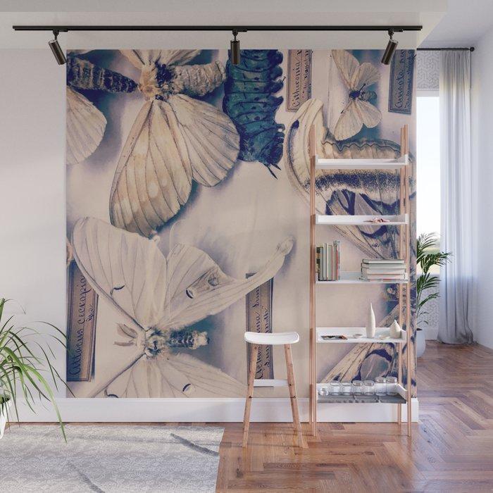 A Mé·lange of Butterflies Wall Mural