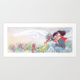 """Mom and Celeste // illustration from """"Once Upon A Cloud"""" Art Print"""