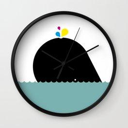 CMYK Whale Wall Clock