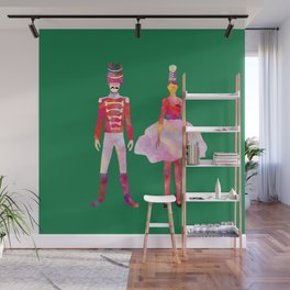 Nutcracker Ballet - Candy Cane Green Wall Mural