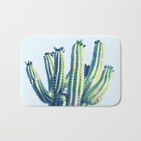 Cactus #society6 #decor #buyart Bath Mat