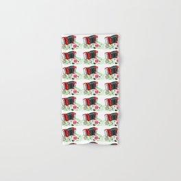 Retro red accordion Hand & Bath Towel
