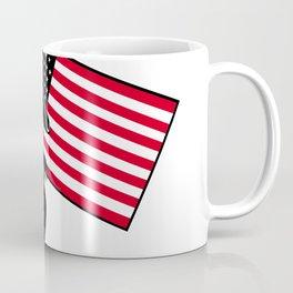 American Patriot Holding Flag Retro Coffee Mug