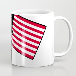 American Patriot Holding Flag Retro Coffee Mug
