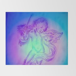 Heavenly apparition  Angel Music Throw Blanket