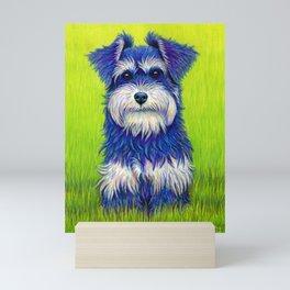 Curiosity - Colorful Miniature Schnauzer Dog Mini Art Print