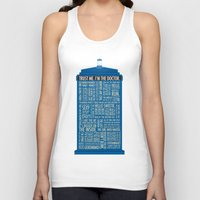 doctor Tank Tops featuring Doctor Who  by Luke Eckstein