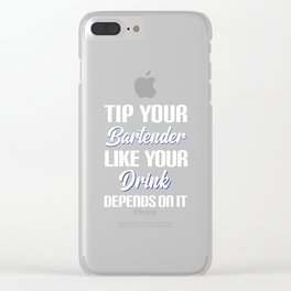 Better Drinks When Tipped Design Clear iPhone Case