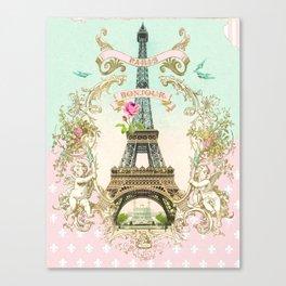 Bonjour Paris Canvas Print