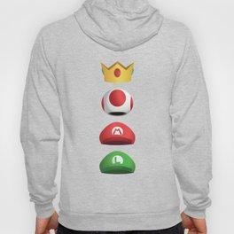 Super Mario Character Hats Stacked Hoody