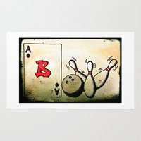 baseball Area & Throw Rugs featuring Baseball by Funniestplace