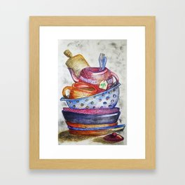 Daily Chores Framed Art Print