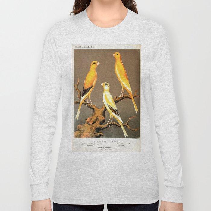 Orange Canaries  Long Sleeve T-shirt