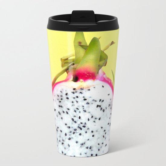 Dragonfruit print Metal Travel Mug