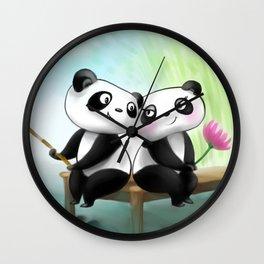 Panda Lovers Wall Clock