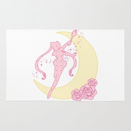 Sailor Moon Silhouette Rug