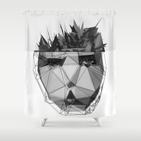 radiohead Shower Curtains featuring no surprises by PandaGunda