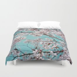 blossoms all over ~ color option teal Duvet Cover