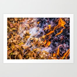 Burning Leaves 2 Art Print